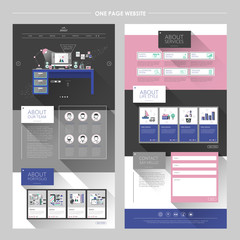 lovely workplace one page website design template