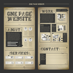 vintage one page website design template
