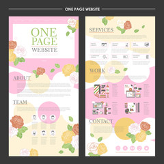 elegant one page website design template