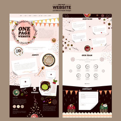 attractive one page website design template