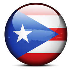 Map on flag button of Freely Associated State  Puerto Rico