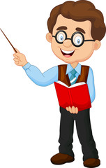 Cartoon male teacher