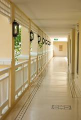 interior design of walk way between building