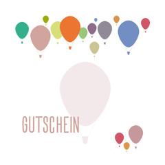 Gutschein - mit Ballonmotiv