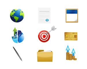 business management concept icon set