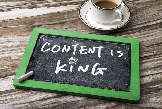 content is king handwritten
