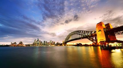 Canvas Prints Sydney Sydney Harbor Panorama at twilight
