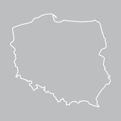 abstract outline of Poland map