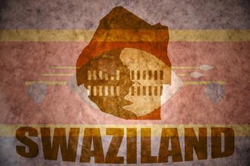 swaziland vintage map