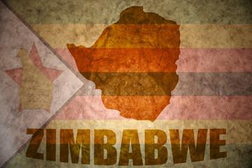 zimbabwe vintage map