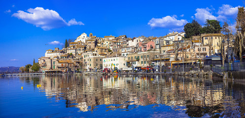Anguillara Sabazia - pictorial  village in lake, Italy, Lazio
