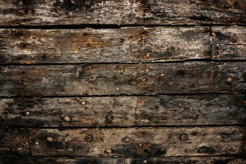 Foto auf AluDibond Schiff Ship hull planks