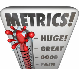 Metrics Thermometer Gauge Measuring Performance Results