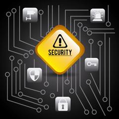 Security design, vector illustration.