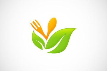 eco vegan restaurant logo