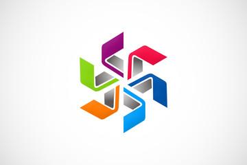 circle technology geometry color logo