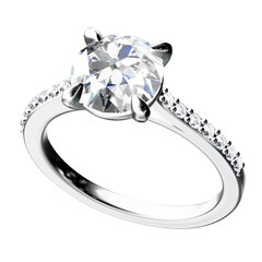 The beauty diamond ring.Vector illustration.