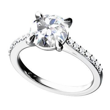 The beauty diamond ring.Vector illustration.