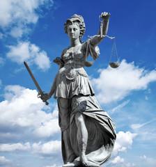 justitia in blue sky