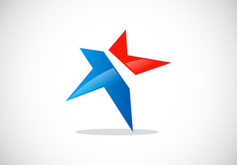 star pride abstract vector logo