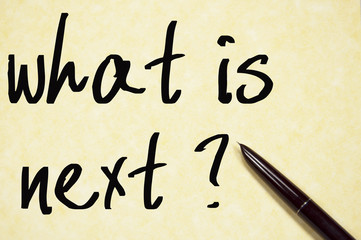 what is next text write on paper
