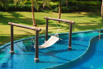 decorate object in swimming pool