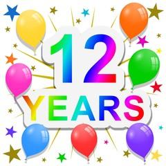 12 Years anniversary