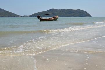 fishery boat on the seashore