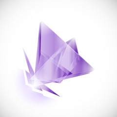 amethyst shard crystal icon logo vector template