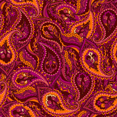Seamless paisley Indian pattern