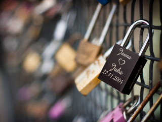 Lock of love symbol