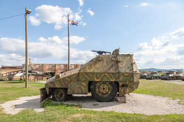 Military vehicles in Croatia, after the Yugoslavian war.