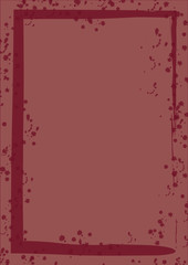 Rahmen weinrot Marsala Farbe