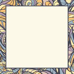 Hand drawn floral border.