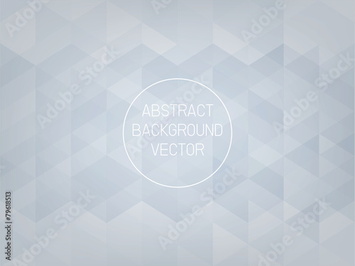 Geometric Triangle Abstract Background Of Light Gray Blue
