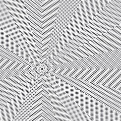 Black and white moire lines, striped  psychedelic background.  O