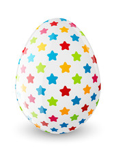 Easter egg with color pattern