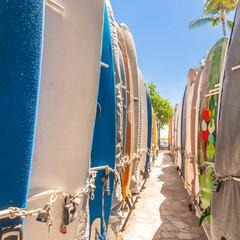Wall Mural - Surfboards at Waikiki Beach, Hawaii
