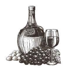 wine vector logo design template. liqueur or alcohol drink icon.