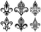 Black Royal Fleur De Lis Flowers Tattoo Stock Image And Royalty