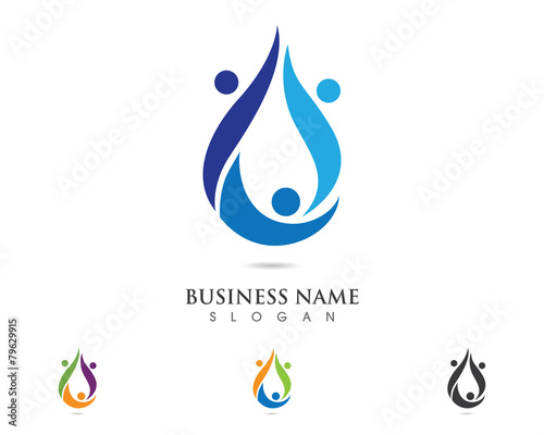 water care family logo 3 stock image and royalty free vector files