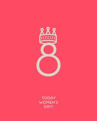 Creative Minimalist Women's Day card.