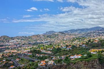Madeira island, Portugal. Houses of Funchal.