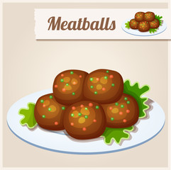 Detailed Icon. Meatballs.
