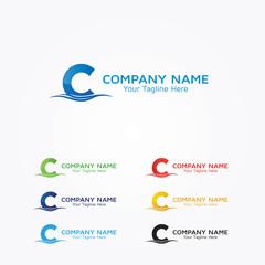 Initial C Company Logo Design Concept