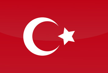 Turkish flag. Vector art.