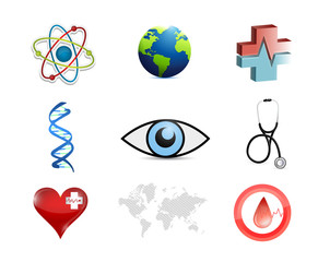 medical concept icon set illustration