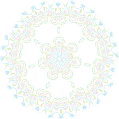 Abstract floral vector ornament