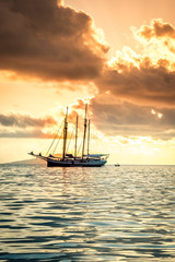 Recreational Yacht at the Indian Ocean