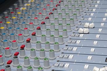 closeup the sound board